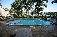 Caesars Palace Fiberglass Pool and Spa in Neches, TX
